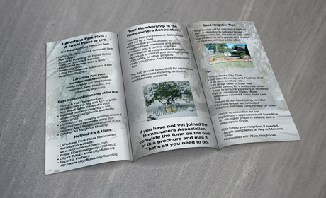 Home Owner's Association Brochure/Application