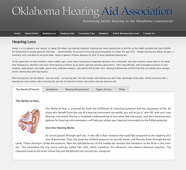 Oklahoma Hearing Aid Association Website