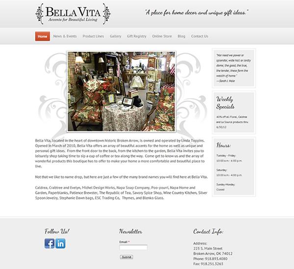 Bella Vita Website - Broken Arrow, Oklahoma