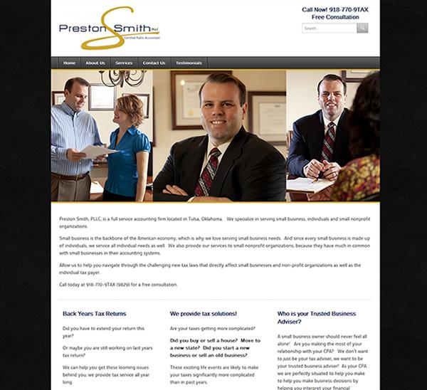 Preston Smith, CPA - Website