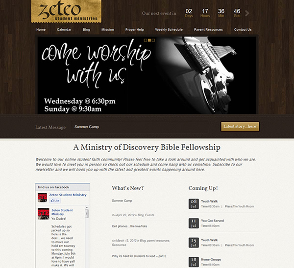 Zeteo Youth Ministries Website